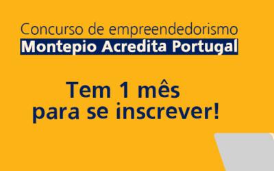Ainda pode participar no Concurso Montepio Acredita Portugal
