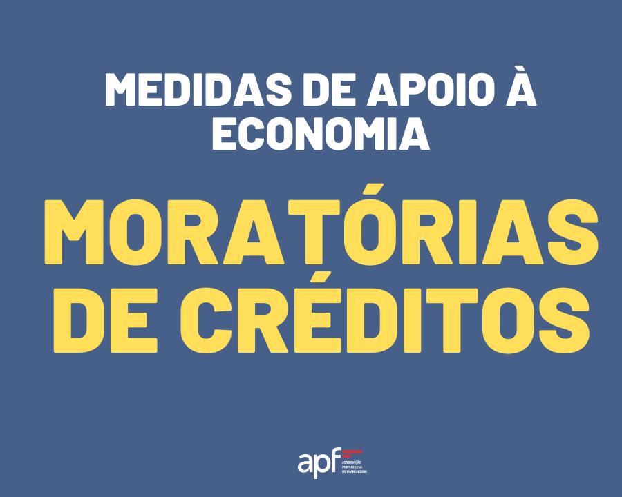 Medidas de Apoio À Economia | Moratórias de créditos